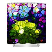 Summer Flowers In The Country Shower Curtain