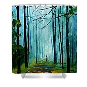 Summer Forest - Palette Knife Oil Painting On Canvas By Leonid Afremov Shower Curtain