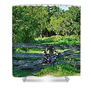 Summer Gate Shower Curtain