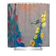 Summer Hummer Shower Curtain
