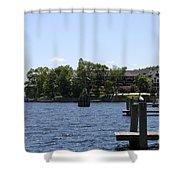 Summer Impression Lake Winnipesaukee Shower Curtain