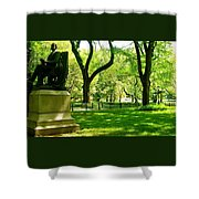 Summer In Central Park Manhattan Shower Curtain