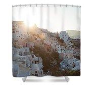 Summer In Santorini Shower Curtain