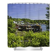 Summer In South Bristol On The Coast Of Maine Shower Curtain