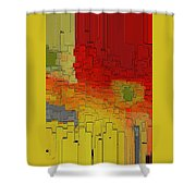 Summer In The Big City - Fantasy Cityscape Shower Curtain
