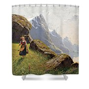 Summer In The Fjord Shower Curtain