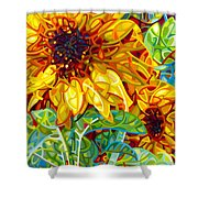 Summer In The Garden Shower Curtain