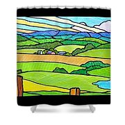 Summer In The Shenandoah Valley Shower Curtain