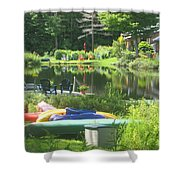 Summer In Vermont Shower Curtain