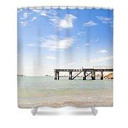 Summer Jetty Shower Curtain