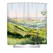 Summer Landscape Inspiration Point Orinda California Shower Curtain