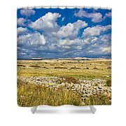 Summer Landscape Of Pag Island Shower Curtain