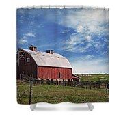 Summer Mancos Barn  Shower Curtain