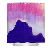 Summer Midnight Shower Curtain