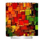 Summer Modern Abstract Art Xviii Shower Curtain by Lourry Legarde