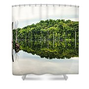 Summer Morning On Monksville Reservoir 2 Shower Curtain by Gary Heller