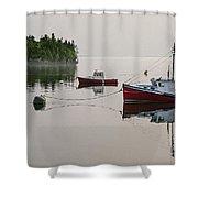 Summer Morning Stillness Shower Curtain