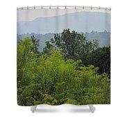 Summer Mountain Vista Shower Curtain