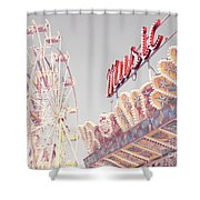 Summer Music Shower Curtain