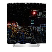 Summer Night At The Pier Shower Curtain