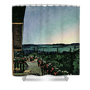 Summer Night Shower Curtain by Harald Oscar Sohlberg