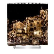 Summer Night In Albarracin Spain Shower Curtain