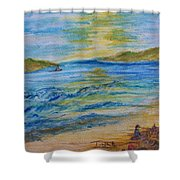 Summer/ North Wales  Shower Curtain