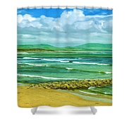 Summer On The Irish Coast Shower Curtain