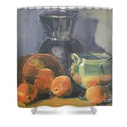 Summer Oranges Shower Curtain