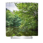 Summer Pool Cannock Chase Shower Curtain