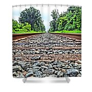 Summer Railroad Tracks Shower Curtain