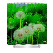 Summer Scenery In Green Shower Curtain