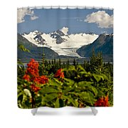 Summer Scenic Of Grewingk Glacier And Shower Curtain