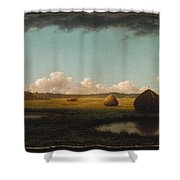 Summer Showers Shower Curtain by Martin Johnson Heade