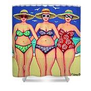 Summer Sisters - Beach Shower Curtain