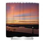 Summer Skies At Crown Point Shower Curtain