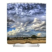 Summer Sky Farm Shower Curtain