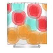 Summer Sorbet- Abstract Painting Shower Curtain