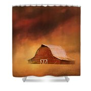Summer Storm At The Barn Shower Curtain