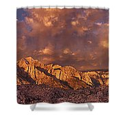 Summer Storm Clouds Over The Eastern Sierras California Shower Curtain
