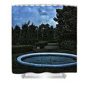 Summer Storm Coming Bahai Temple Shower Curtain