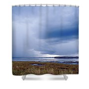 Summer Storm Over The Lake Shower Curtain