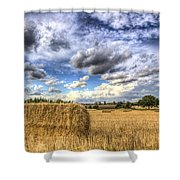 Summer Straw Bales Shower Curtain