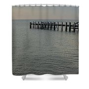 Summer Sunrise Oak Bluffs Shower Curtain