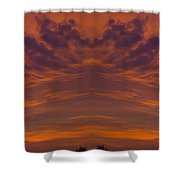 Summer Sunrise Over Jackson Michigan Mirror Image Shower Curtain