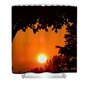 Summer Sunrise Right Side Shower Curtain