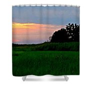 Summer Sunset At East Point Light Shower Curtain