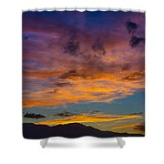 Summer Sunset Colorado Shower Curtain