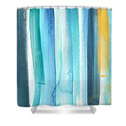 Summer Surf- Abstract Painting Shower Curtain
