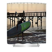 Summer Surfer Shower Curtain